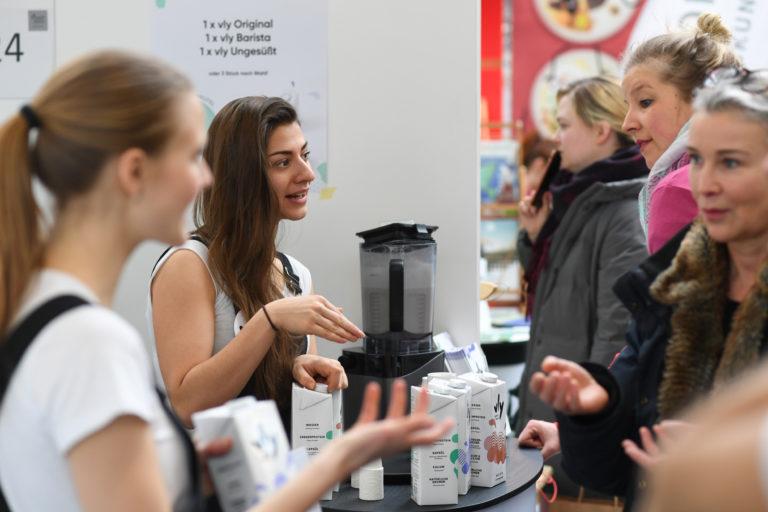 Verkaufsstand auf der VeggieWorld Berlin 2020