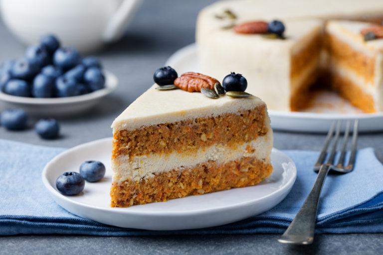 Roher Karotten-Kuchen