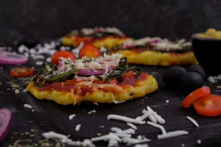 Vegane Polenta Pizza