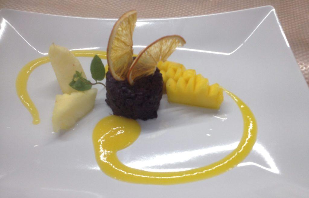 Veganes Dessert Rezeptbild: Vanille-Klebreis mit Mango