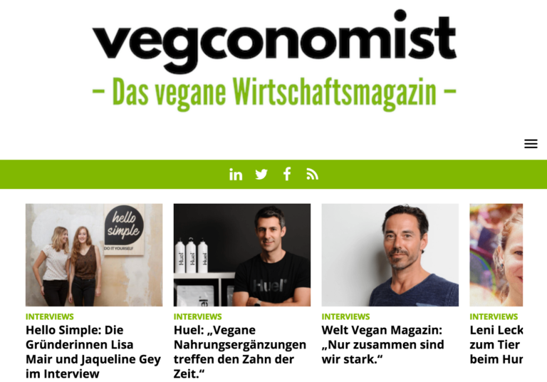 vegconomist Screenshot