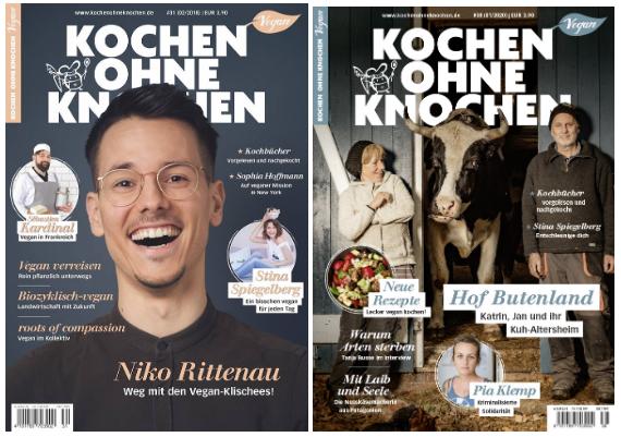 Zwei Cover der Kochen ohne Knochen