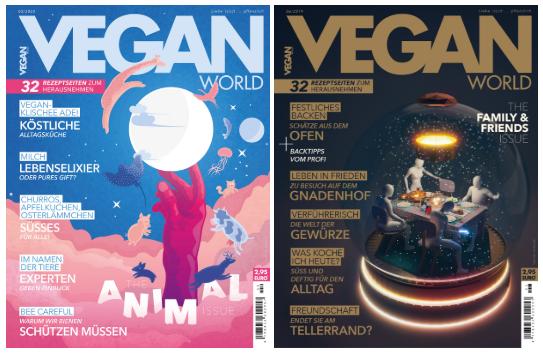 Zwei Cover Vegan World