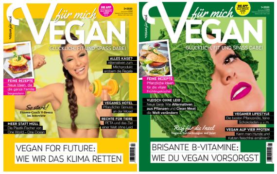 Zwei Cover der Vegan für mich