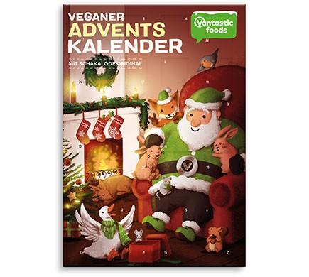 Abbildung Vegane Adventskalender von Vanstatic Food mit veganer Schokolade