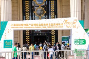 Vegane Messe in China: Der Eingang zur VeggieWorld Shanghai 2020