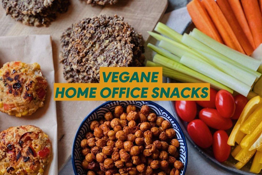 Beitragsbild: Vegane Snacks für das Home Office