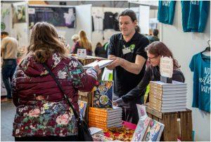 Bücherstand auf der VeggieWorld Brüssel 2019