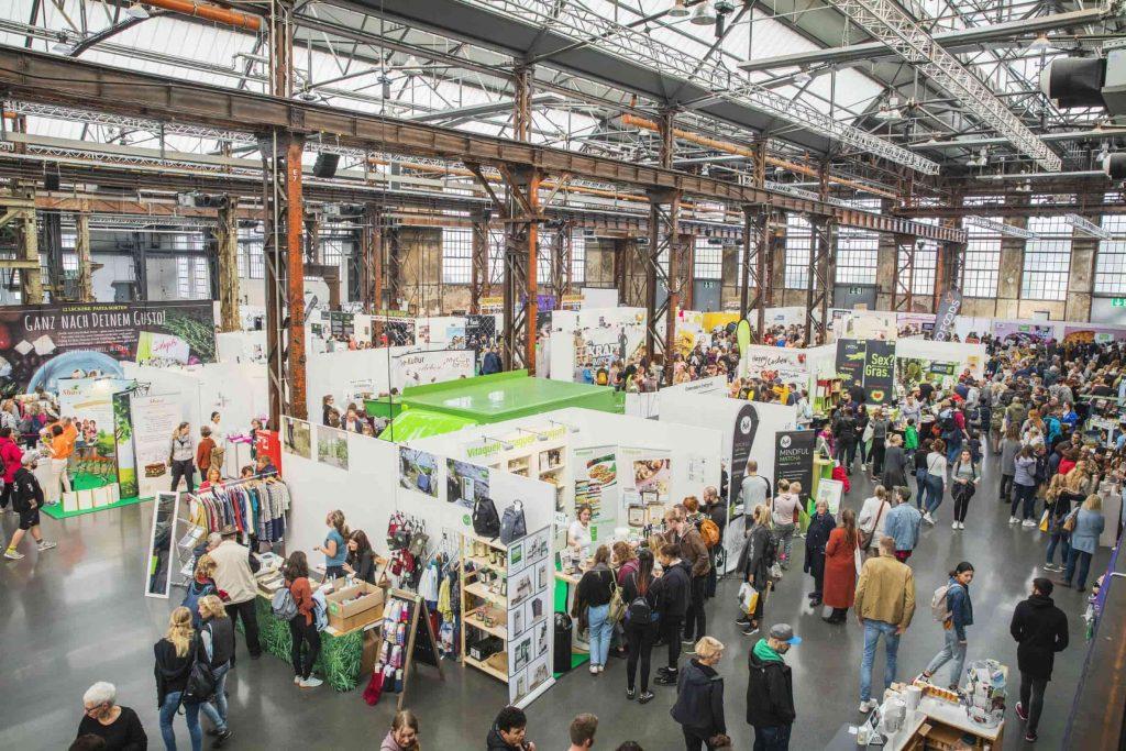 Aufnahme der Ausstellungsfläche der VeggieWorld Düsseldorf 2019 von oben