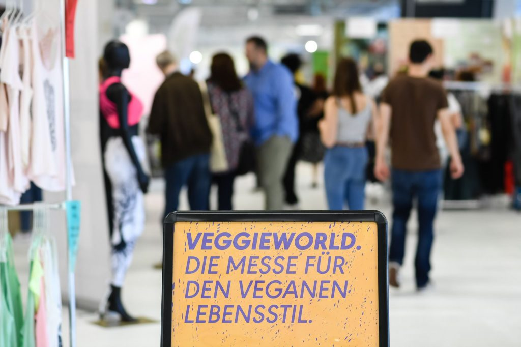 Plakat von der VeggieWorld München 2018