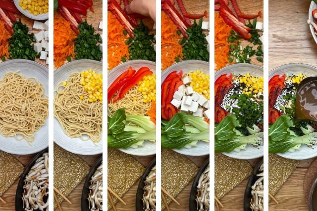Vegane Ramen Zubereitung Schritt für Schritt