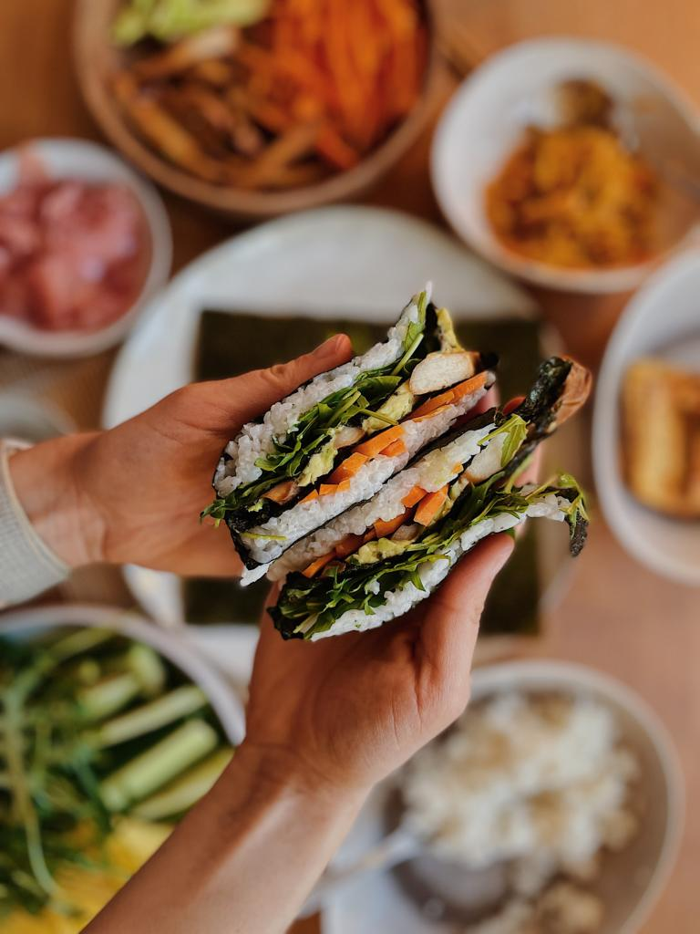 Veganes Fingerfood: Sushi als Wrap