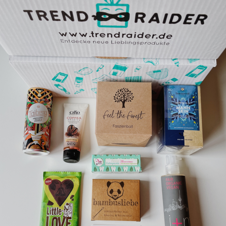 Food-Box mit veganen Produktneuheiten