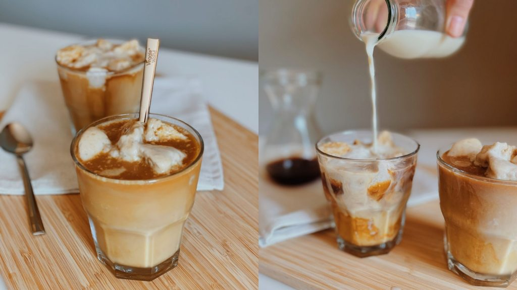 Veganer Eiskaffee