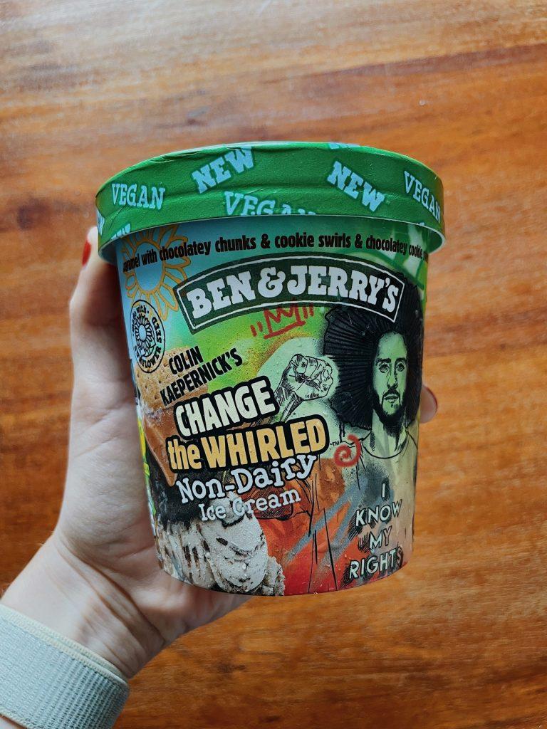 Veganes Eis von Ben & Jerry's - Colin Kaepernick Change the whirled