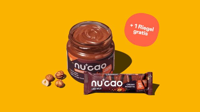 Produktbild Probierpaket: nu spread und nucao Riegel