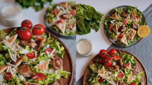 Titelbild Magazin Ceasar Salad vegan